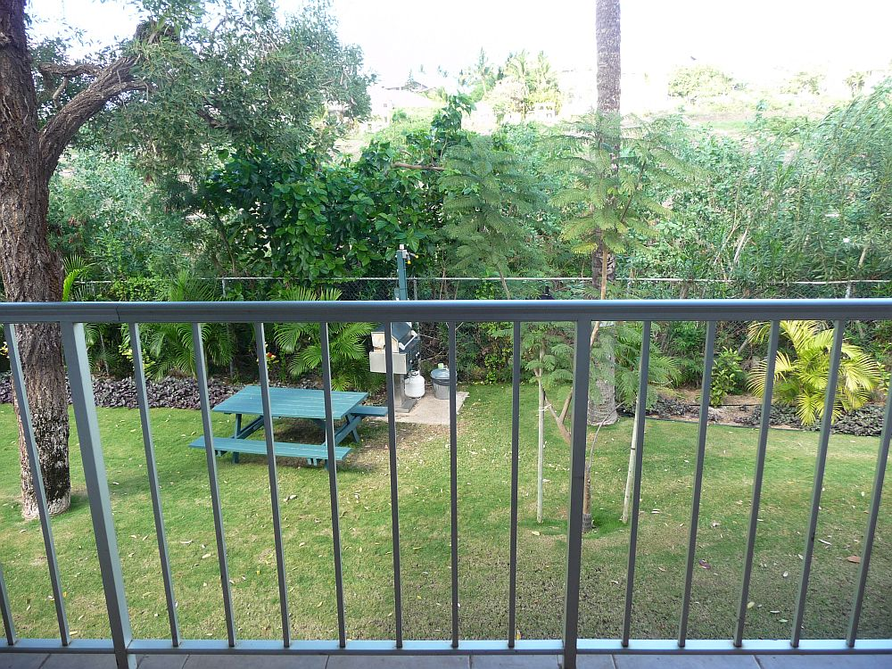 Garden view from lanai